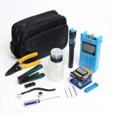 Fiber Optic FTTH Tool Kit Cable Cutter Stripper Plier Power Meter Visual Fault Locator Finder