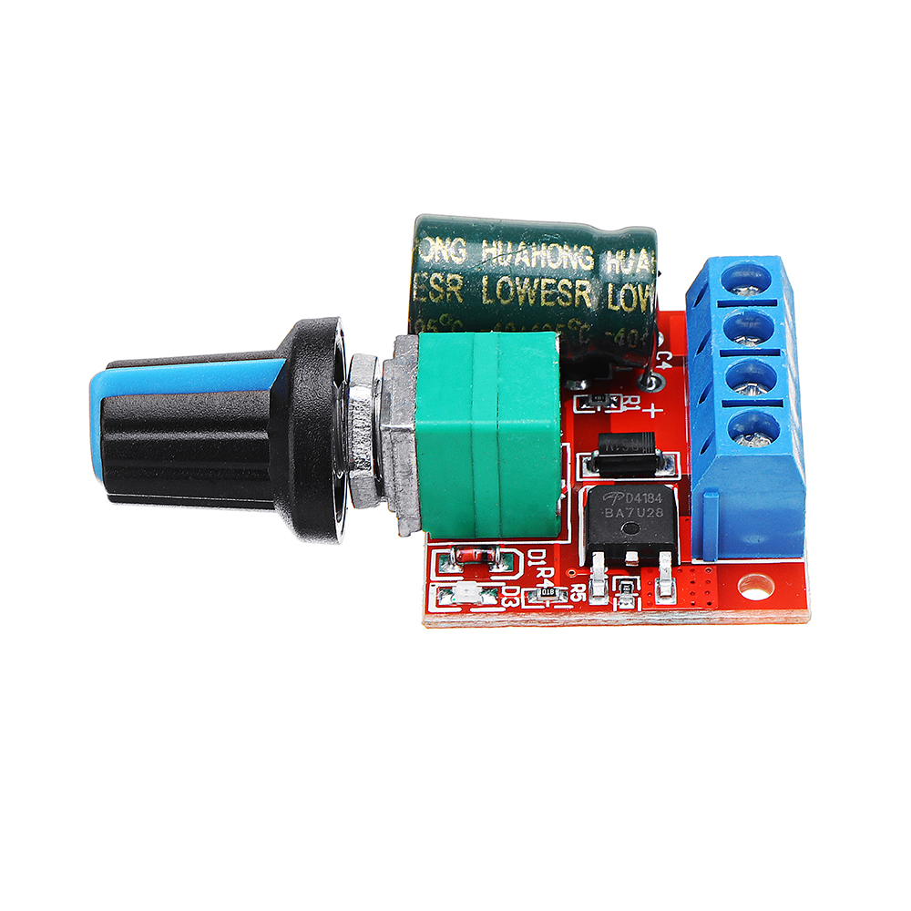 DC 5V To DC 35V 5A 90W Mini DC Motor PWM Speed Controller Module Speed  Regulator Adjustable Light Mo