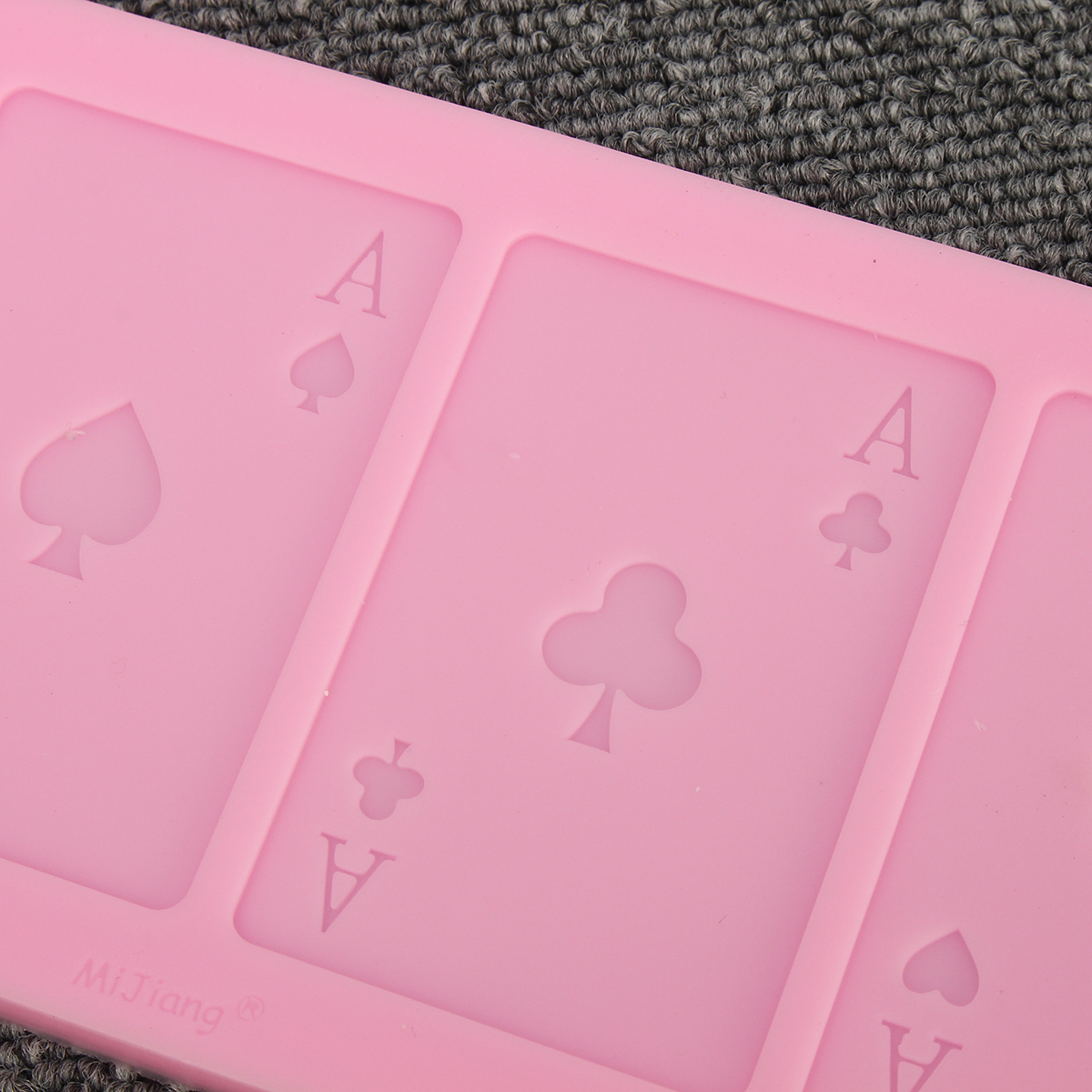 Poker Shape Silicone Chocolate Cake Mold A Poker Card Fondant Candy Baking Mould Decorations