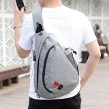 Men Camouflage Large Capacity Chest Bag Outdoor Crossbody Bag With USB Charging Port