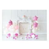5x3ft 7x5ft Pink Balloon Birthday Theme Photography Backdrop Studio Prop Background