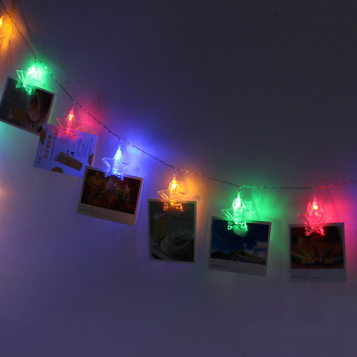 3 Meters 20 LED Photo Window Hanging Peg Clips String Lights Fairy Decor Wedding Light