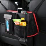 Leather Car Seat Back Storage Bag Organizer Holder Multi Pocket Travel Storage Hanging Net