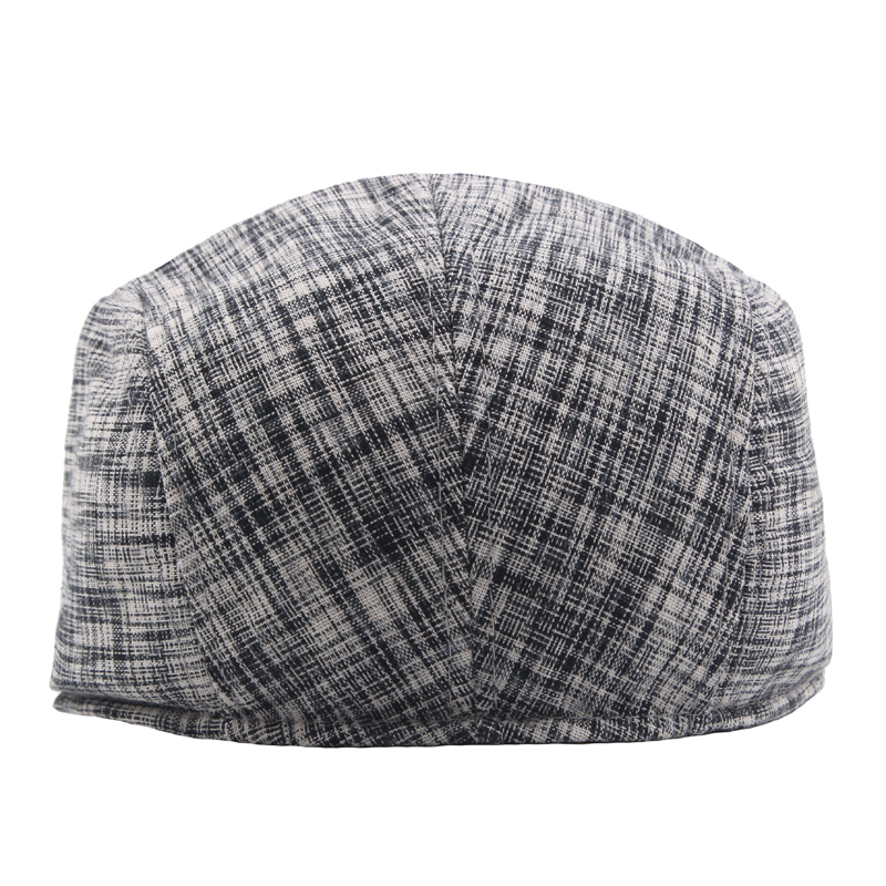 Men Women Winter Cotton Painter Beret Hat Outdoor Warm Striped Gatsby Newsboy Hunting Caps