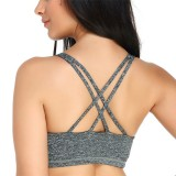 KISSLACE Seamfree Padded Wireless Full Coverage Criss Cross Sports Bra