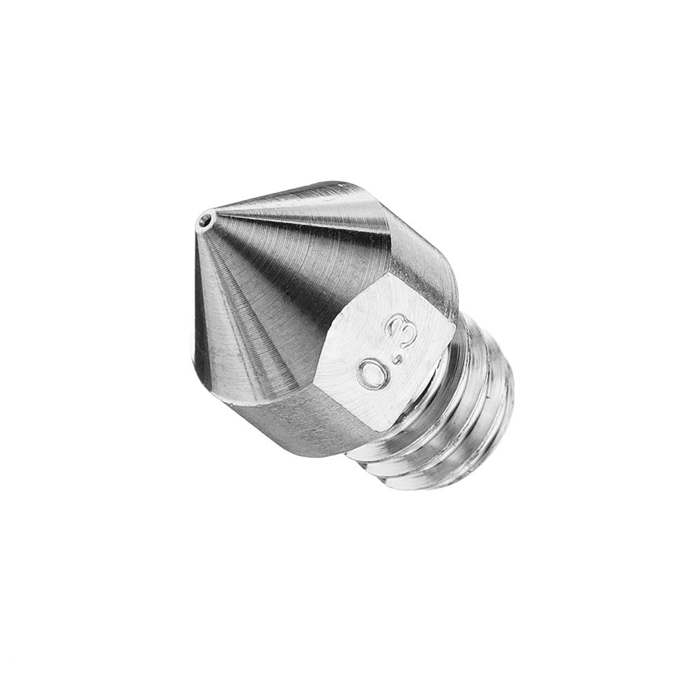 0.3mm/0.4mm/0.6mm/0.8mm/1.0mm/1.2mm/1.5mm MK8 TC4 Titanium Alloy M6 Thread Nozzle For 3D Printer