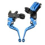 7/8inch CNC Universal Motorcycle Brake Clutch Master Cylinder Lever Set Reservoir