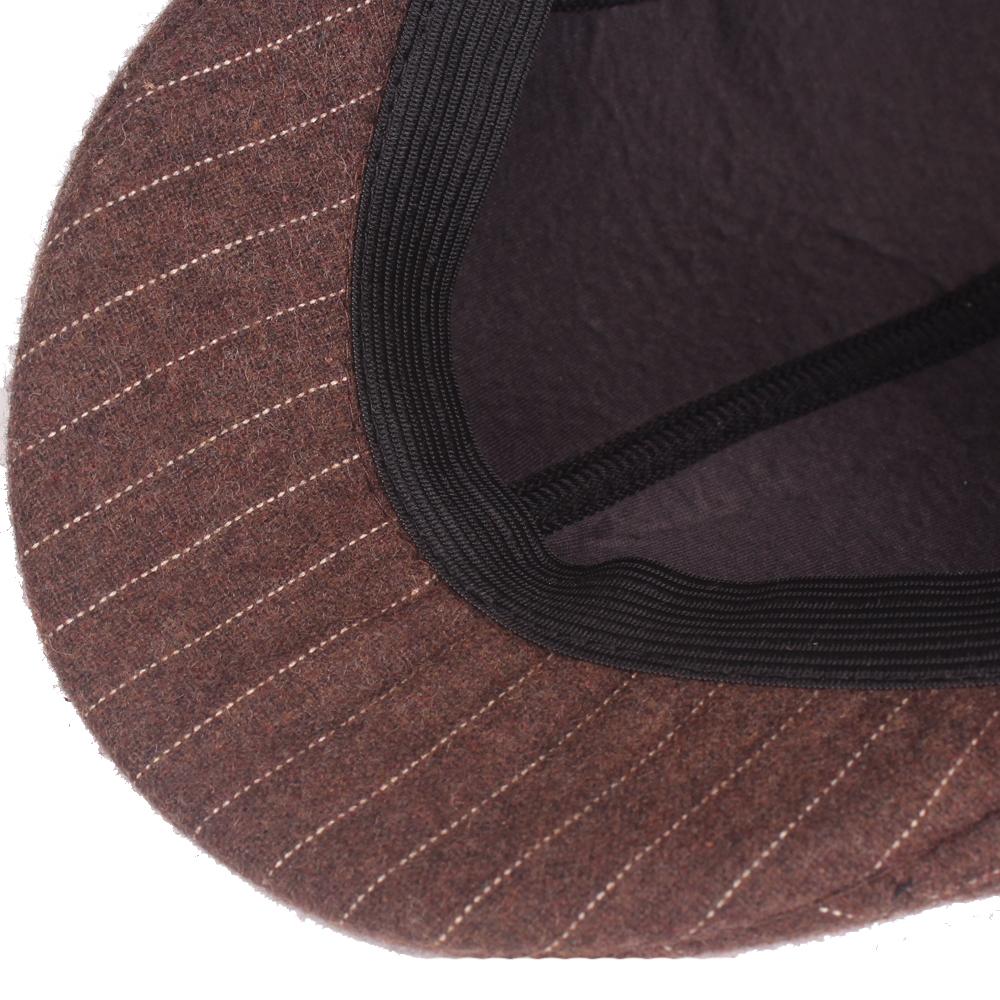 Winter Men Women Woolen Blending Painter Beret Caps Outdoor Thicken Newsboy Hunting Hat