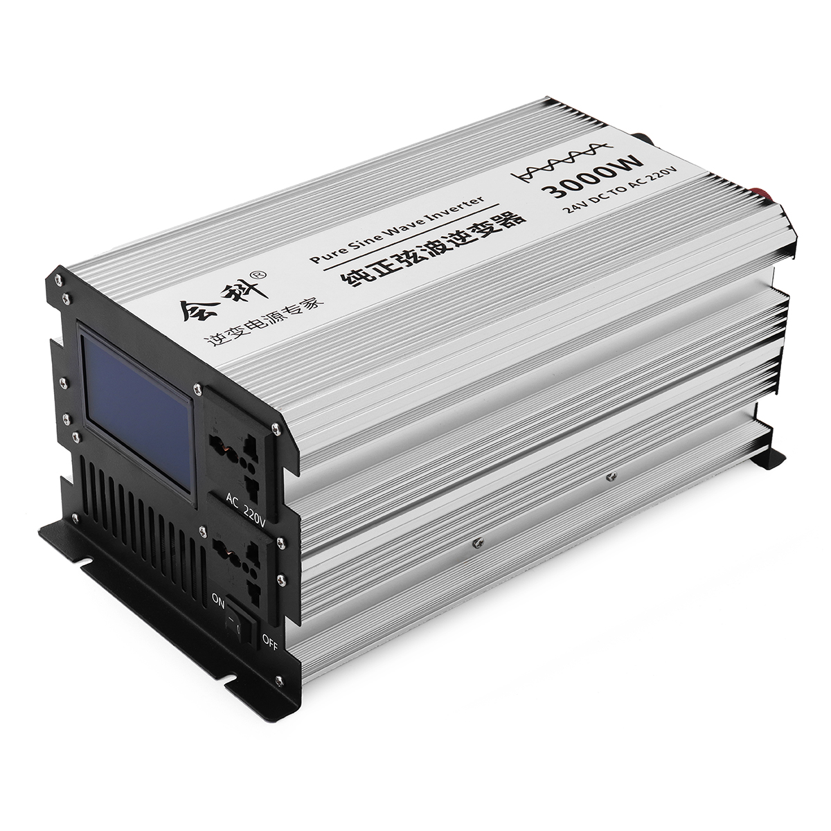 DC 12V 24V 48V 1500W Peak 3000W Large Size Liquid Crystal Display Pure Sine Wave Car Power Inverter