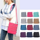 Women Nylon Multi-pocket Leisure Crossbody Bag Solid Shoulder Bag