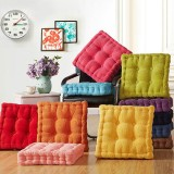 40 x 40cm Washable Corduroy Tatami Floor Seat Cushion Square Plaid Winter Warm Chair Pad Cushion