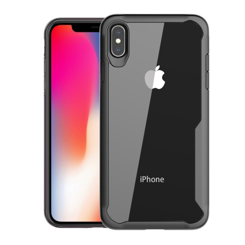 Bakeey Protective Case For iPhone XS Max Anti Fingerprint Transparent Acrylic Soft Silicone