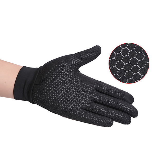 Mens Silicone Riding Non-slip Touch Screen Gloves Thicken Windproof Full Finger Glove
