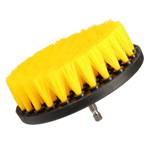 4.3 Inch Yellow Drill Cleaning Brush Powered Scrub for Shower Tub Tile Carpet