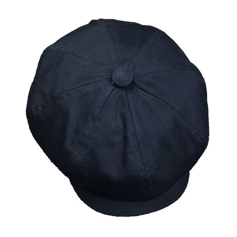 M/L Men Unisex Washed Cotton Newsboy Beret Caps Outdoor Painter Octagonal Cabbie Flat Hat