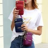 Women Nylon Mini Phone Bag Portable Leisure Waterproof Crossbody Bag Arm Bag