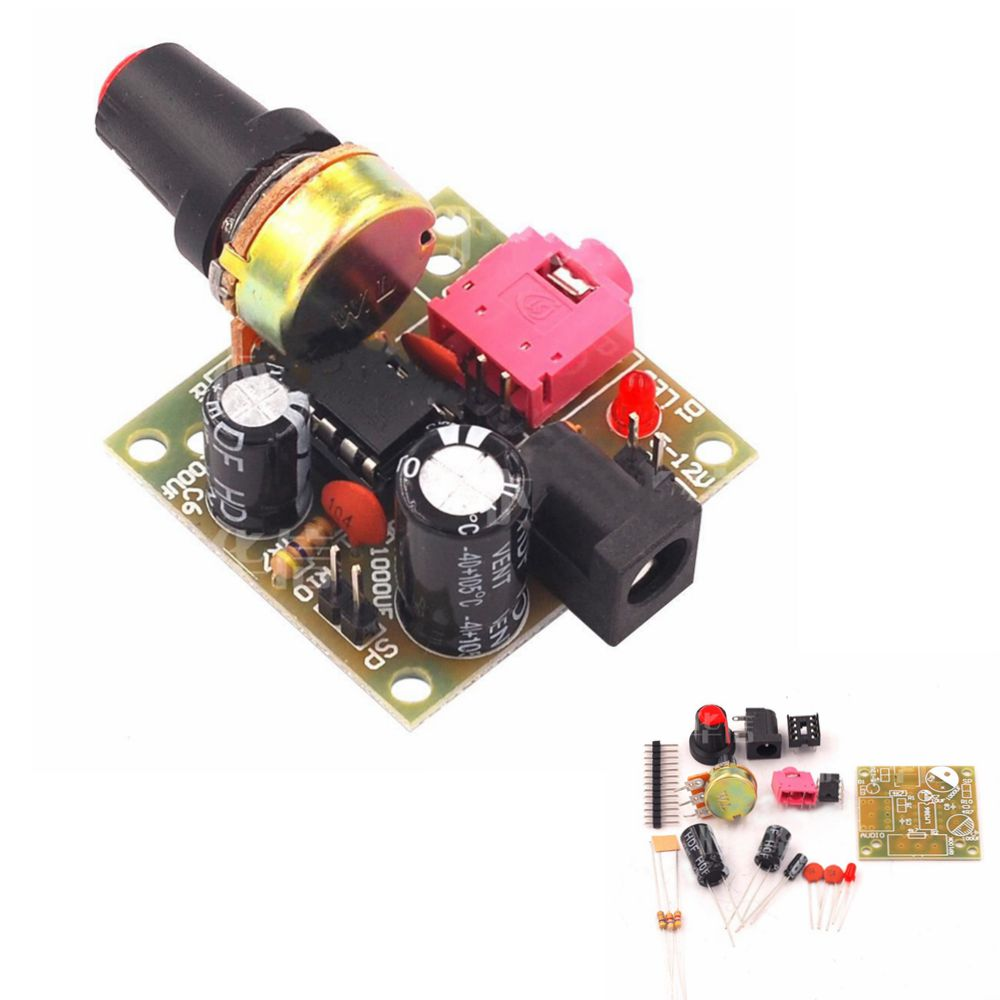 lm386 dc 3 12v super mini audio amplifier board module audio power electronic kit. Black Bedroom Furniture Sets. Home Design Ideas