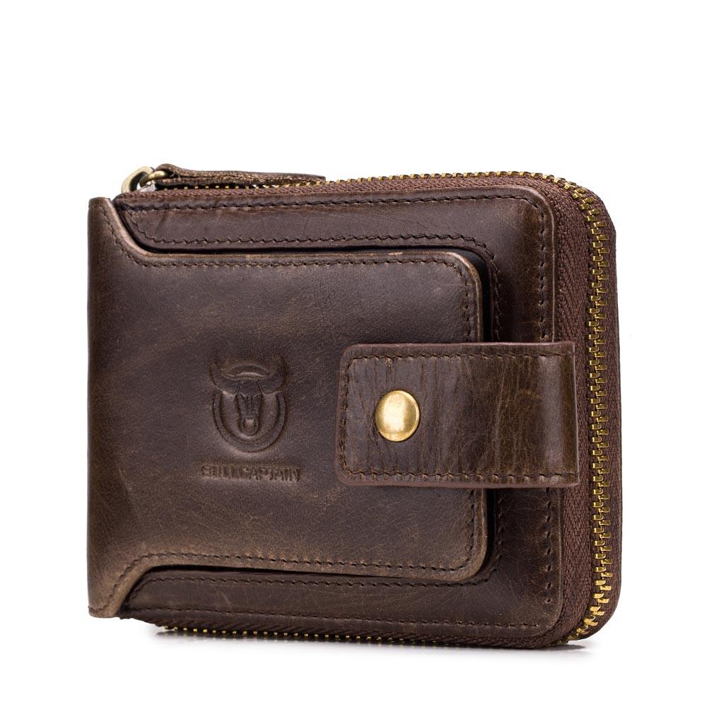 Bullcaptain RFID Antimagnetic Vintage Genuine Leather 11