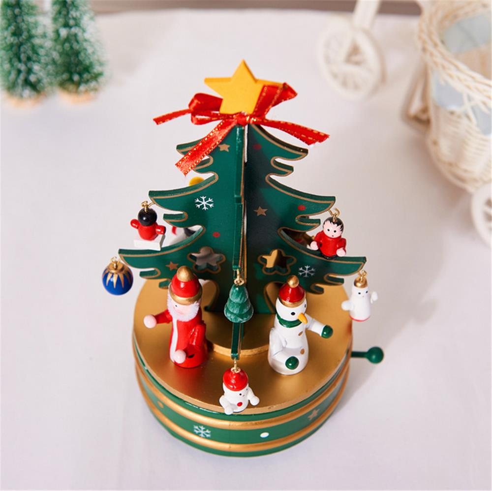 Christmas Decorations Creative Wooden Christmas Tree / Deer Old Man Music Box Ornaments Christmas