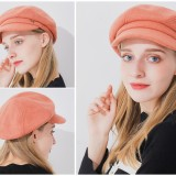 Women Fashion Cotton Plus Velvet Octagon Beret Hat Outdoor Thicken Gatsby Newsboy Caps