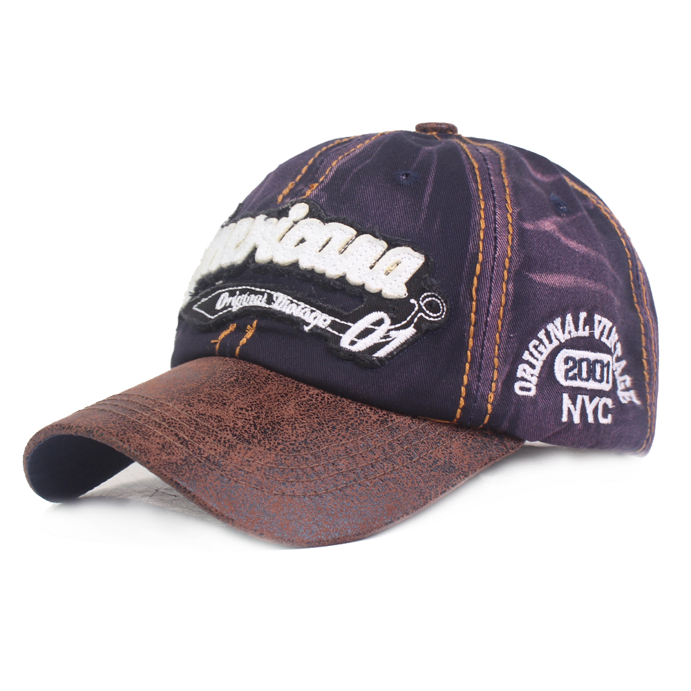Men Women Summer Embroidered Washed Cotton Baseball Cap Sun Protection Trucker Hat