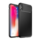 Bakeey Protective Case For iPhone XS Max Slim Carbon Fiber Fingerprint Resistant Soft TPU Back Cover