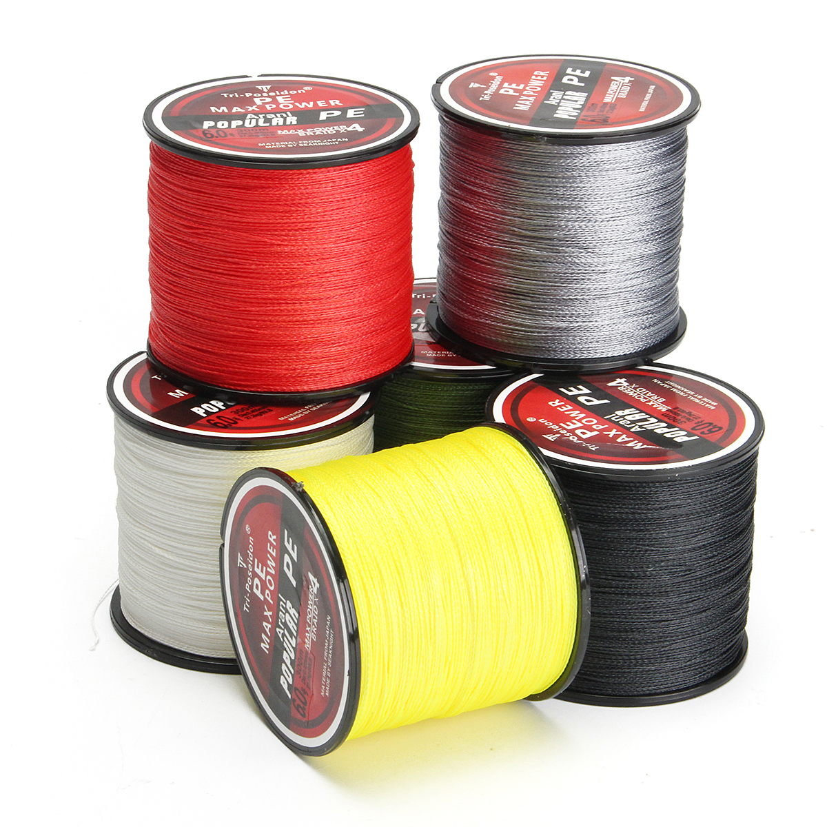 300M Super Strong 4 Strands PE Spectra Braided Wire Fish Rope Sea Fishing Lines 8-