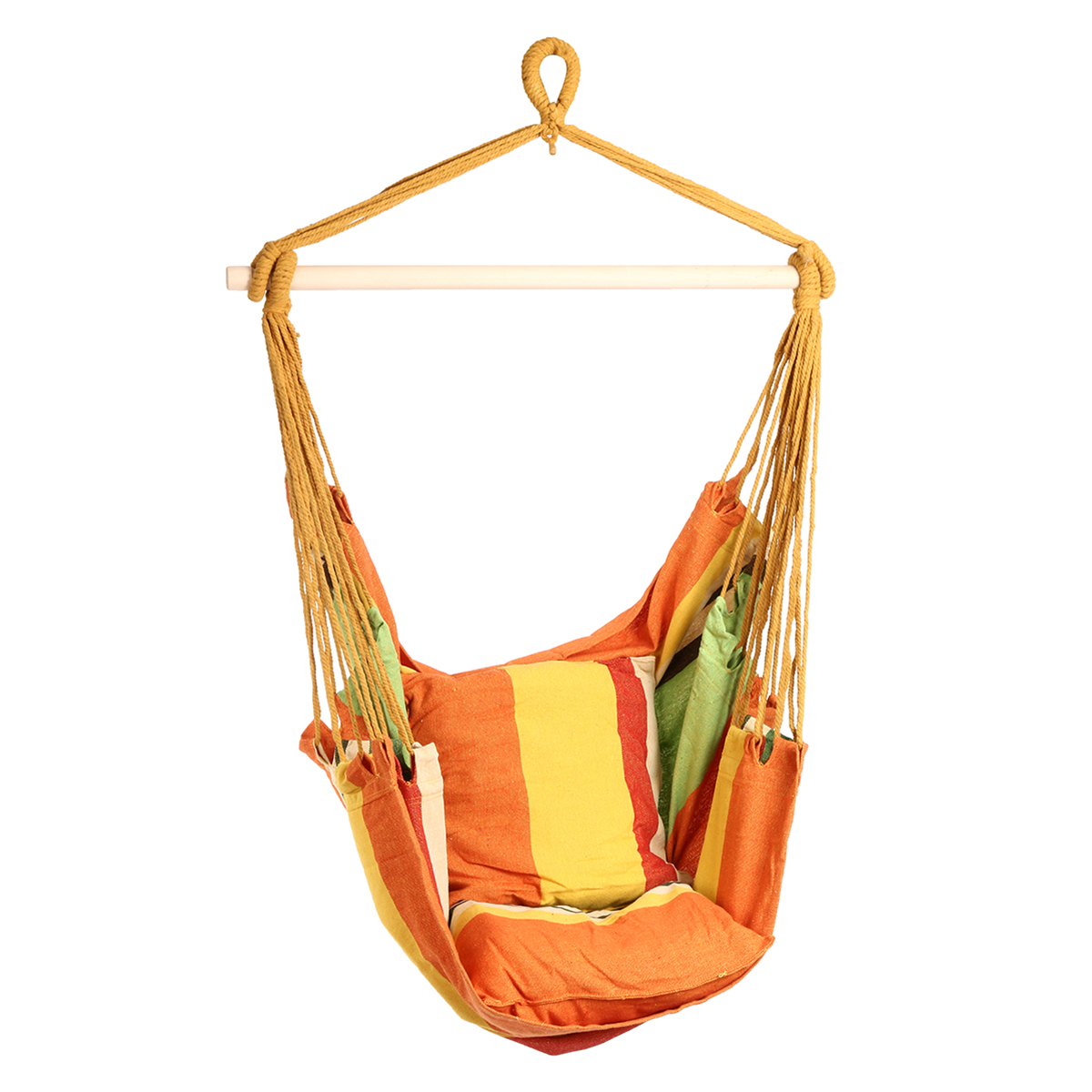 Outdoor Canvas Hammock Chair Swing Hanging Chair Relax ...