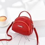 Women Faux Leather Mini Phone Bag Multi-Slot Retro Crossbody Bag