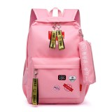 2 Pcs USB Backpack 20L Shoulder Bag Travel Camping Waterproof School Bags With Pencil Case