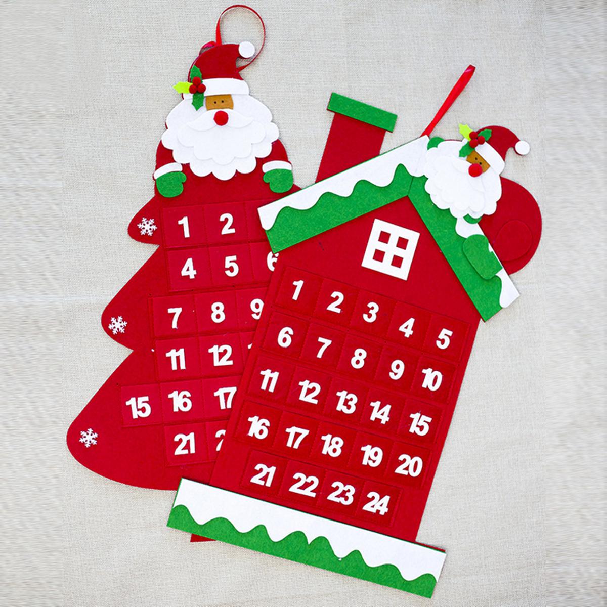 Christmas Tree Advent Calendar Felt Fabric Holiday Countdown Christmas Display Decor Alexnld Com