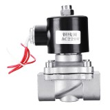 AC 220V Electric Solenoid Valve 2W20 Stainless Steel For Water Gas Air Oil