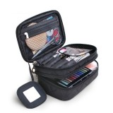Nylon Travel Bag Double Layer Portable Storage Bag Cosmetic Bag For Women