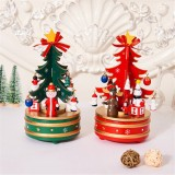 Christmas Decorations Creative Wooden Christmas Tree / Deer Old Man Music Box Ornaments Christmas