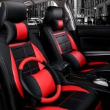 11pcs Leather Deluxe Car Full Surround Seat Covers Cushion Protector Universal for Five Seats Car