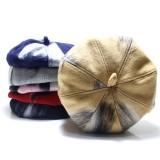 Womens Felt Painter French Beret Hat Ladies Vintage Winter Tiicken Octagonal Caps