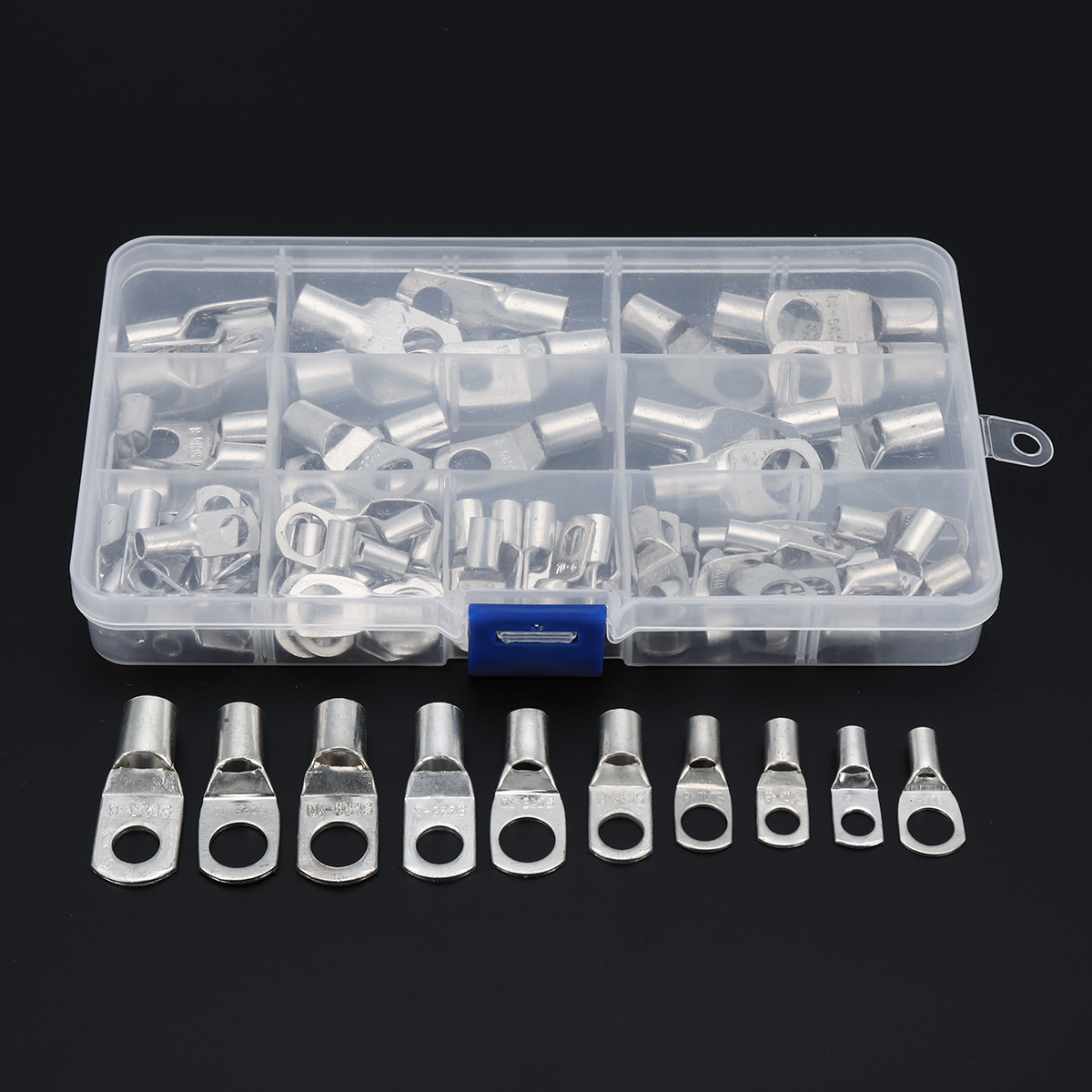 Excellway 90 Pc Tinned Copper Terminals Cable Terminals Connector Cable lugs Battery SC Terminals