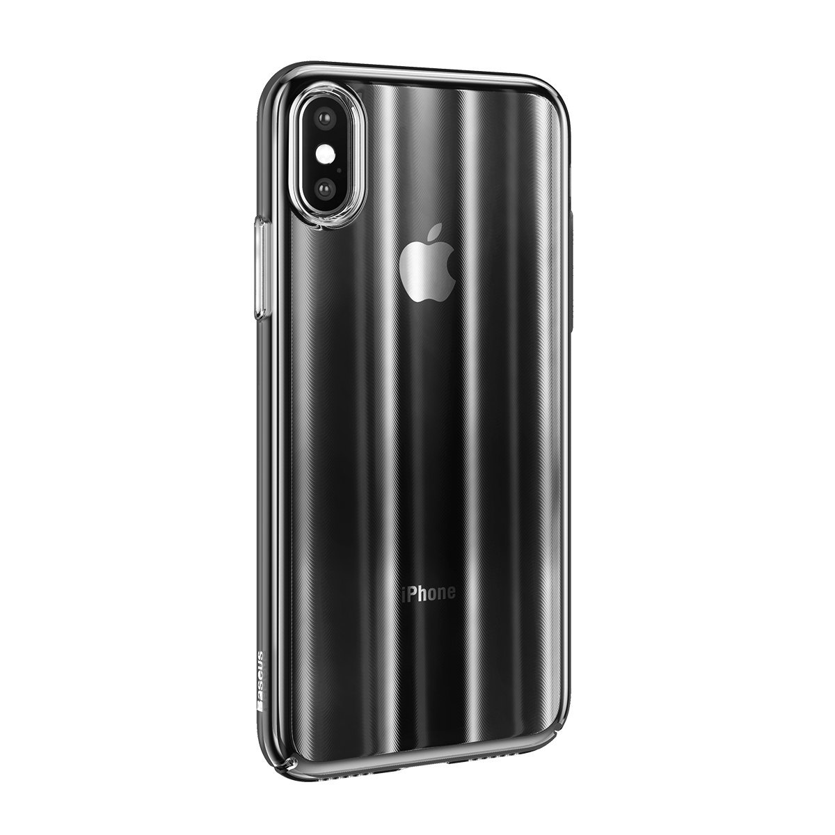 Baseus Laser Aurora Gradient Color Hard PC for Protective Case for iPhone X