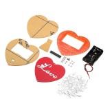 DIY Seven Color Heart Shaped LED Flow Lamp Production Kit DIY LED Flash Kit