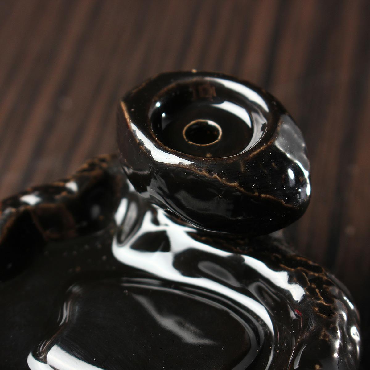 Backflow Incense Cone Burner Holder Ceramic Chinese Character Jing Fragrant Smoke Backflow Censer