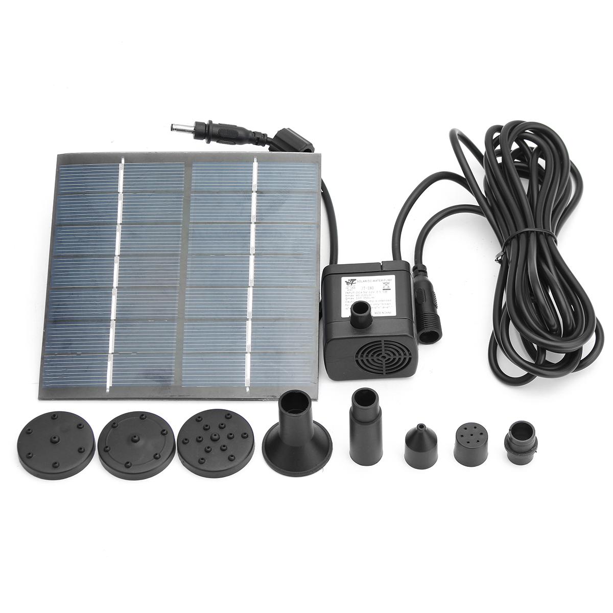 Jt 180 1 4w 7v Solar Panel Power Fountain Pump Outdoor