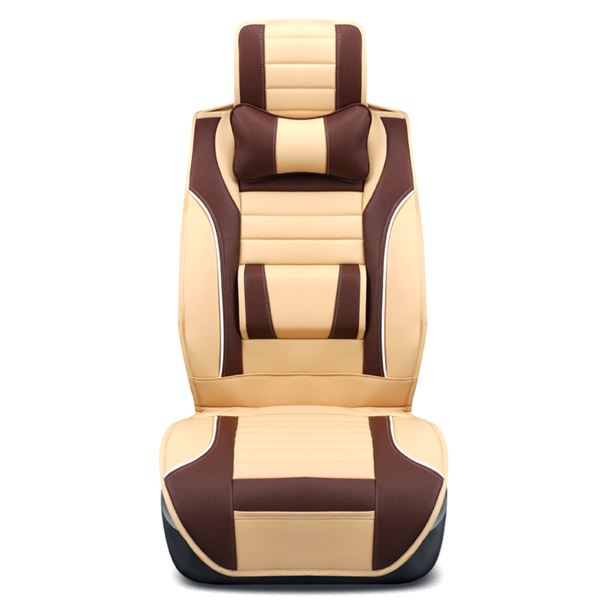 1pcs Luxury Full Surround Front Rear Pu Leather Car Seat