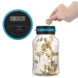 Electronic Digital Counting Coin Money Saving Box LCD Display Piggy Bank Card Box Gift