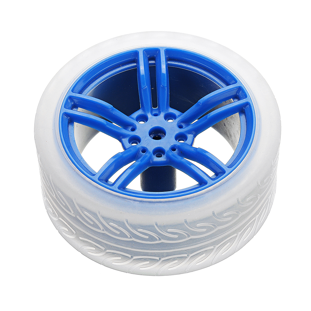 5Pcs Blue Color Rubber Wheels + 3-6v TT Motor DIY Kit For Arduino Smart Chassis Car Accessories