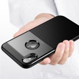 Bakeey Protective Case for iPhone XS Armor Anti Fingerprint Hybrid PC & TPU Back Cover