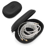 Original KZ Oval PU Earphone Bag Portable Shockproof Zipper Earphone Cable Storage Box Case