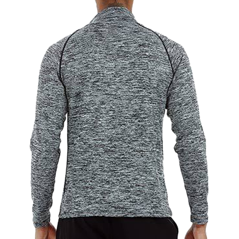 Men's Sportswear Long Sleeve Zipper Neck T-Shirts Stretch Fitness Tight Quick-drying Warm Blazer