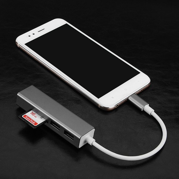 Bakeey 3 in 1 USB3.0 Type C SD TF Micro SD Card Reader USB Hub OTG Adapter For Phone Tablet Notebook