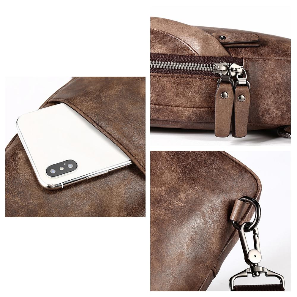 Vintage Casual Sling Bag Crossbody Bag Chest Bag For Men