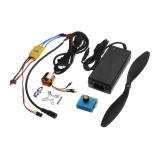 XXD A2212 1000KV Brushless Motor with 30A ESC Servo Tester Power Supply for F450 S500 Quadcopter